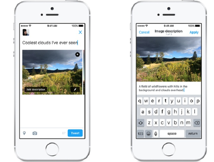 Twitter Improves Images Visually Impaired!