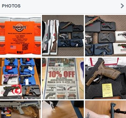 weapon sold in facebook