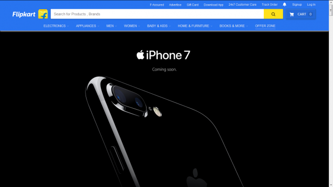 Apple has partnered with Flipkart for the sale of the latest iPhone 7 and 7 Plus.