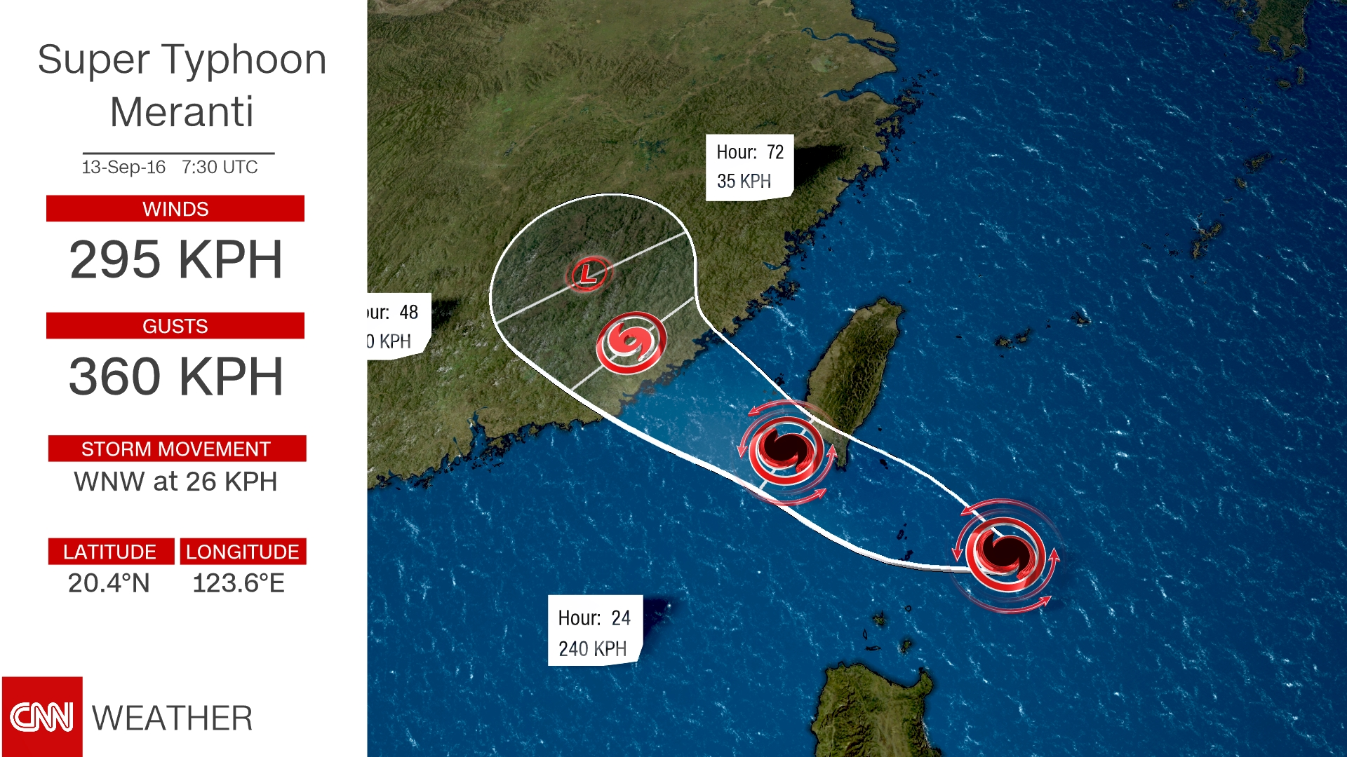 Taiwan and China brace for Super Typhoon Meranti