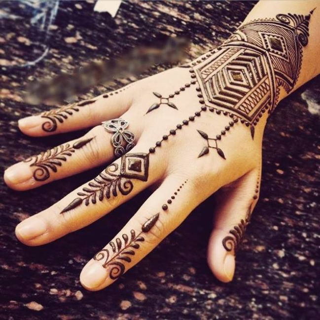 Popular Karva Chauth Mehndi Design for Girls Women