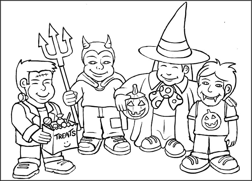 Entertaining Halloween Colouring Pages for Adults, Teens, Kids ...