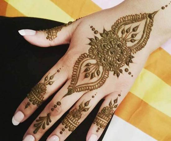 Popular Karva Chauth Mehndi Design