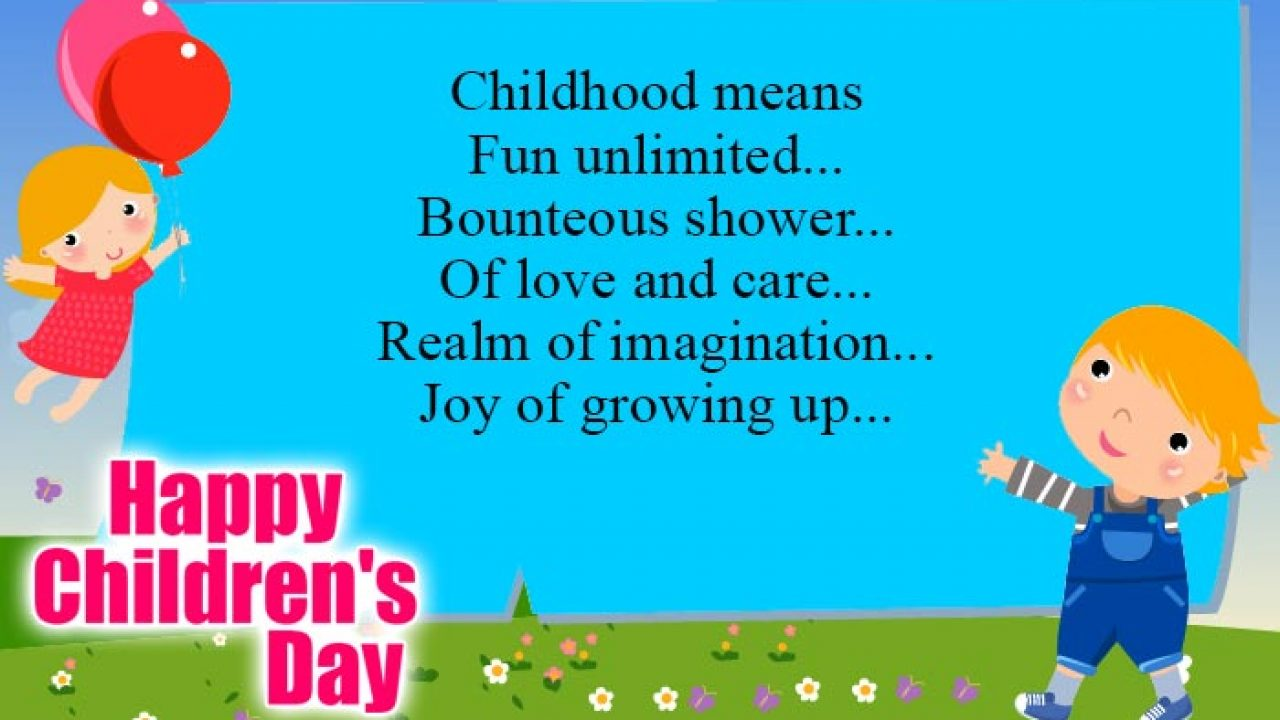 Children S Day Quotes Sayings Wishes To Share With All The Kids Around Northbridge Times