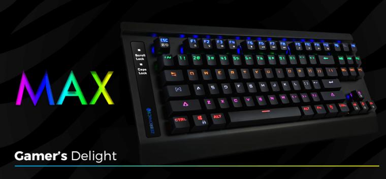 90eb63a588d Zebronics Launched 'Zebronics Max Mechanical Keyboard' For INR 2,424 ...