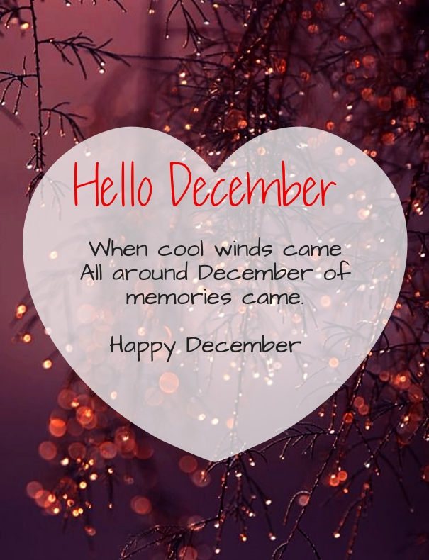 Top 12 Quotes to say Hello and Welcome December Month ...