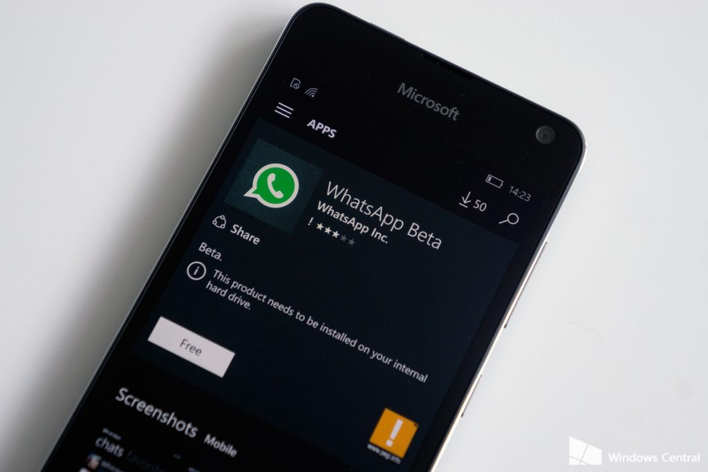 Steps to become WhatsApp Beta tester on Windows Phone.