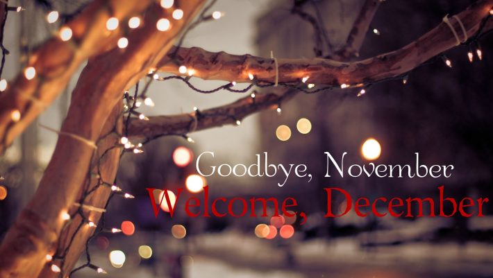 Good Bye November and Hello December Pictures