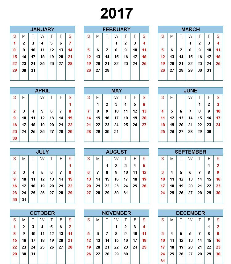 Printable Calendar Template Holidays Excel  Word
