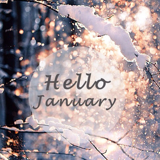 Welcome January and Goodbye