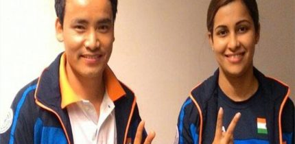 ISSF World Cup: In a dramatic victory for India, Jitu Rai and Heena Sindhu has won the 10m mixed team air pistol event of the ISSF (International Shooting Sports Federation) world cup on Monda