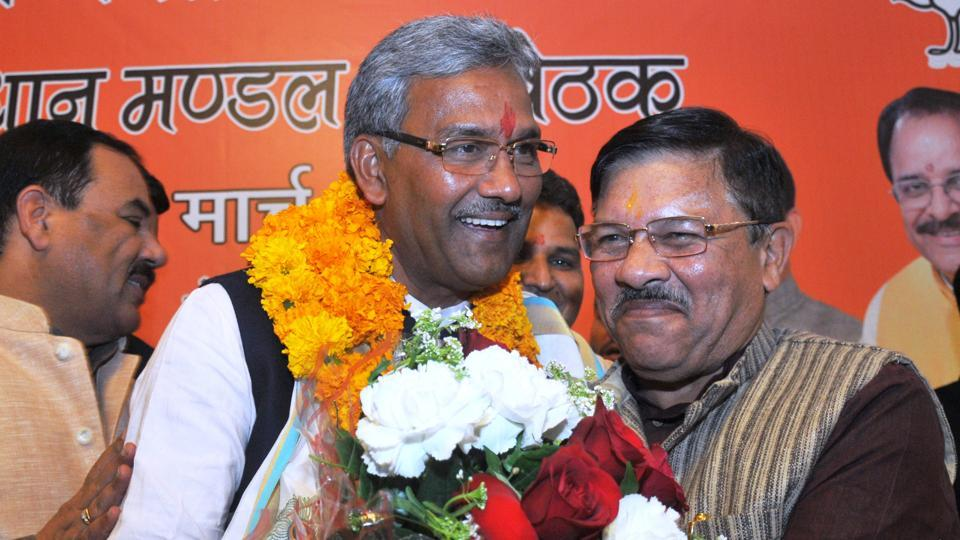 Trivendra Sigh Rawat Sworn-in as Uttarakhand Chief Minister