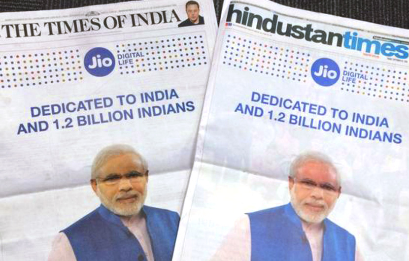 "Paytm, Reliance apologise: Paytm, Reliance Jio have apologised for unintentionally"" using PM Narendra Mod's name and photograph in their advertisements, the consumer affairs ministry informed Rajya Sabha on Friday."