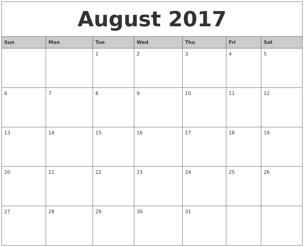 Calendar for October 2017 (Canada) - Time and Date