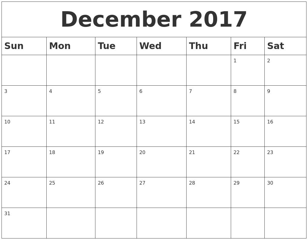 december 2017 printable calendar template holidays excel word