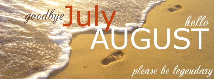 Delightful Hello August Facebook Cover