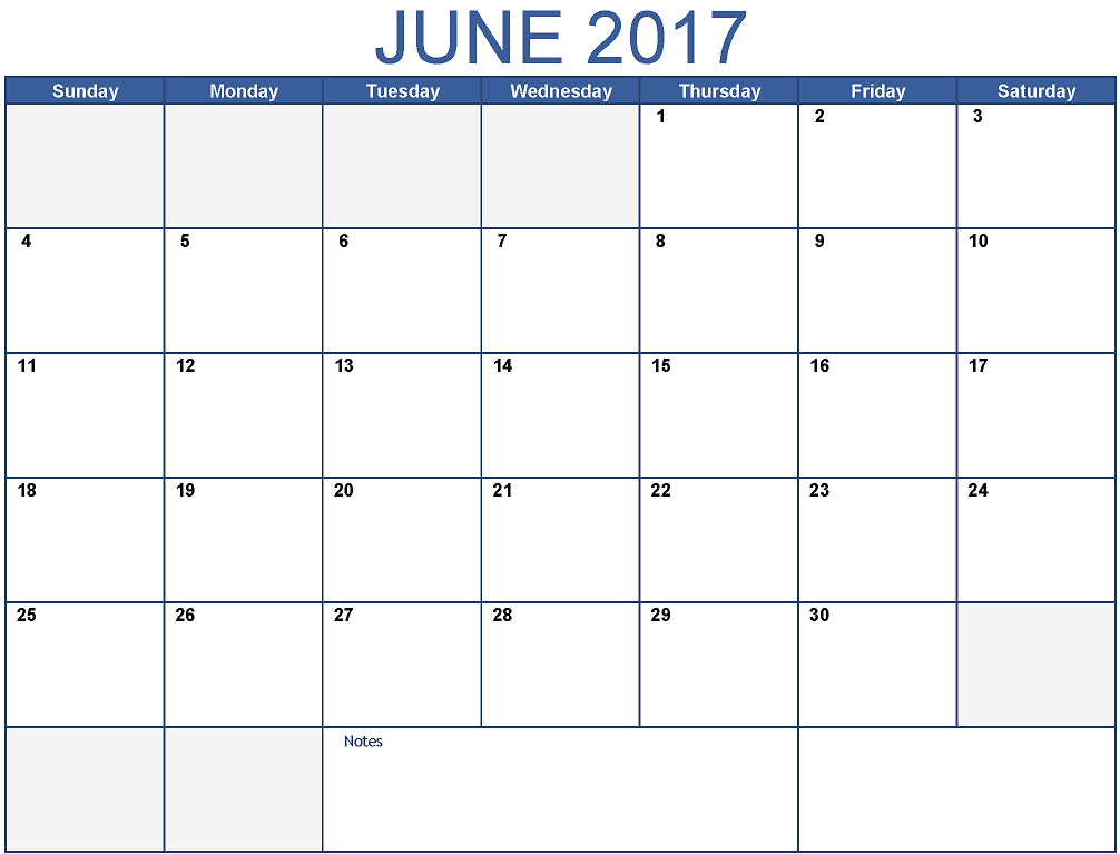 Calendar Template June : June printable calendar template holidays excel