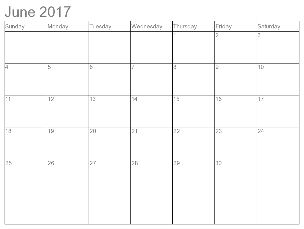 simple calendar template