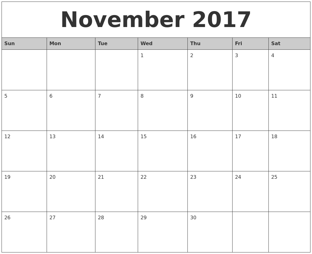 how to make 2017 calendar in excel
