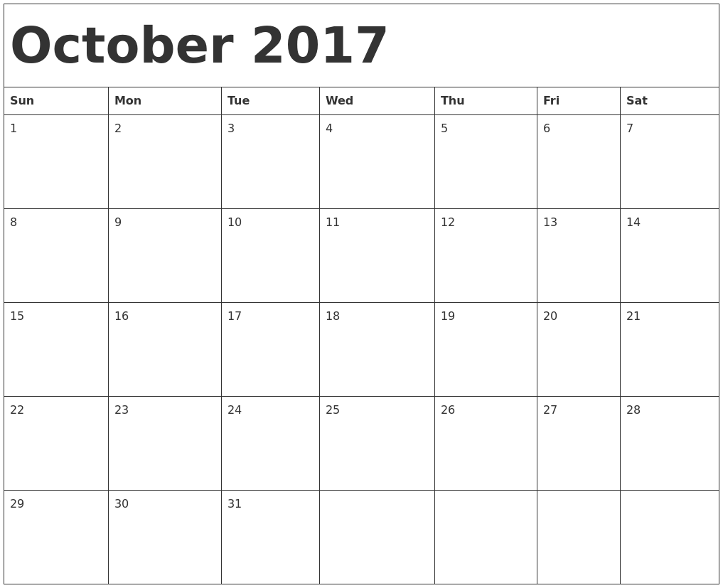 october homework calendar 2017 - scribd.com