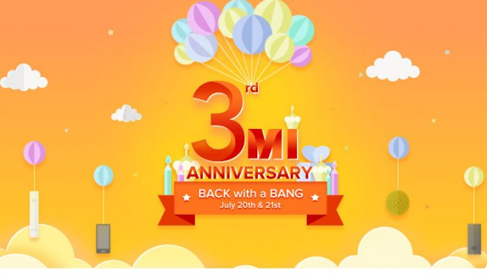 Xiaomi Mi 3rd Anniversary Sale has begun with a bunch of offers for you